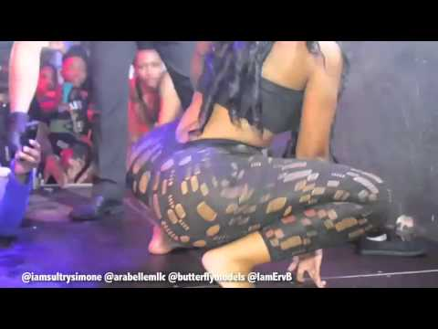 Sultry Simone Gives Fan A Lap Dance   Twerking On Stage In Germany!.
