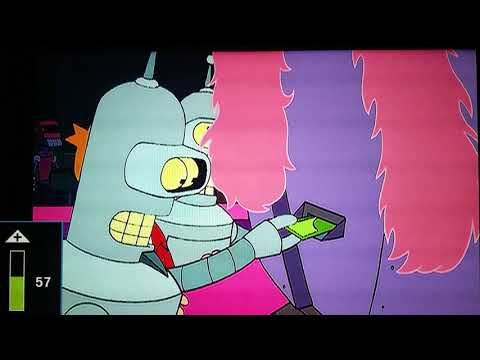 Fry Gets A Lap Dance From A Robot