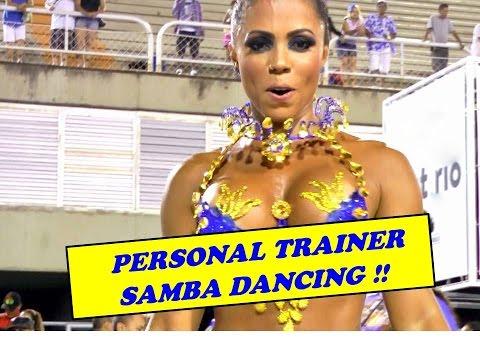 FEMALE BODYBUILDER BRAZIL DANCING: PERSONAL TRAINER AT RIO CARNIVAL